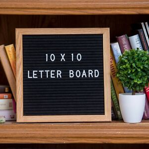 brand new black felt letter board 10x10 inch with 290 letters