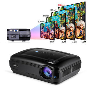 Multimedia LED Projector Home Theater Cinema 3200 Lumens Projector Support 1080P