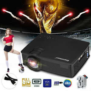 7000Lumen LED 1080P HD 3D Projector100'' 120'' Screen Stand Tripod Home Movie