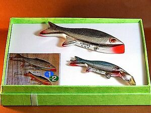 70's Vintage ABU Snoky 7g lipped & 28g lipless fishing lures-excellent display
