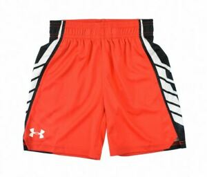 Under Armour 3642 Kids Youth Little Boys Basketball Shorts Sport Risk Red Size 5