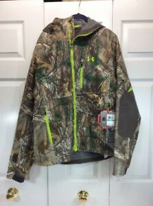 New Under Armour Storm Gore Tex Windstopper Jacket Hunting Camo Realtree Xtra