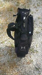 Under Armour Black Carry Stand Bag w 14 Club Compartments & Multiple Pockets