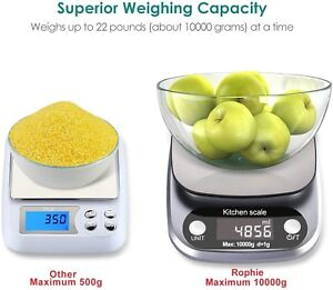 22lb 10Kg Accurate Digital Kitchen Scale Small Food Scale Gram Electronic Scale