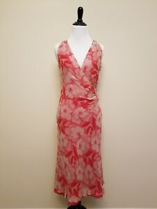 Laundry by Shelli Segal Red Dress with Floral Design Size 6