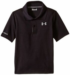 Under Armour Little Boys' Ua Logo Short Sleeve Polo Black 7