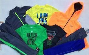 BOY'S SIZE 2T UNDER ARMOUR LOT OF 5 FALL & WINTER OUTFITS SHIRTS & PANTS NWT