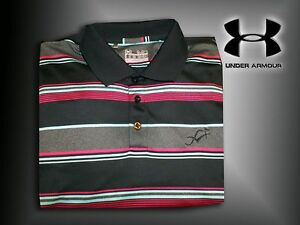 Under Armour Golf Men's MED Loose Fit Dry Wick Golf Shirt Heat Gear