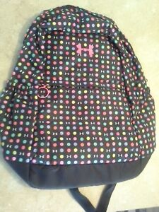 Under Armour Backpack Girls Youth Polka Dot New Storm 1 NWT