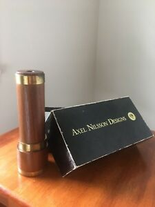 Axel Nilsson Designs Kaleidoscope Wood Brass With Box 6.5 Inches
