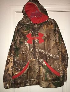 Under Armour Size Youth XL Boy Camo Breakup Infinity Hoodie Pull Over Sweatshirt