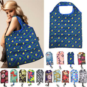 Foldable Handy Shopping Bag Reusable Tote Pouch Recycle Storage Handbag