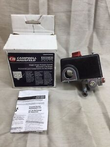 Campbell Hausfeld Single Stage Pressure Switch GR004500AJ *NEW