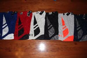 LOT OF 6 UNDER ARMOUR MENS CROSS COURT BASKETBALL SHORTS 1294479 XXL $210 NWT