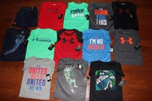 LOT OF 13 UNDER ARMOUR TODDLER BOYS SHIRTS UA HEATGEAR SHORTS $230+ SIZE 4 NWT