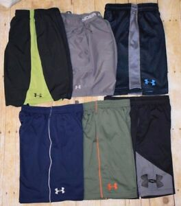 Youth Medium Under Armour Boys (Lot of 6) Sports Shorts GUC FREE SHIPPING