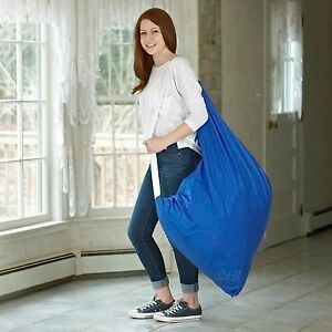 Durable Nylon Laundry Bag with Shoulder Strap  30