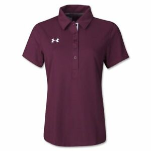 Under Armour Women's Coaches Polo II (Maroon).
