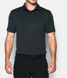 Under Armour Coldblack® Tee Time Stripe Men's Golf Polo Sz. Medium 1280935