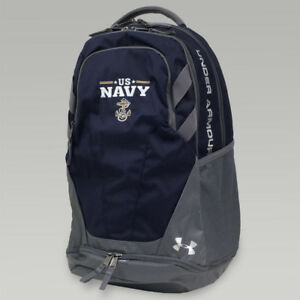 Navy Under Armour STORM HUSTLE III 3.0 Backpack USN Military Gray Blue FREE SH