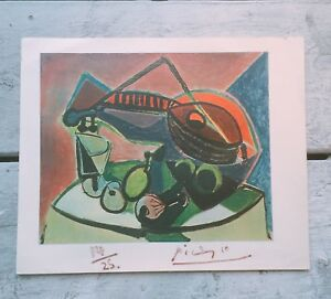 Hand Signed Picasso Print 14 25 $349.95