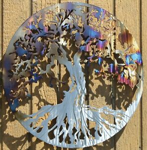 Tree of Life Metal Wall Art Home Decor Heat Treated $21.00