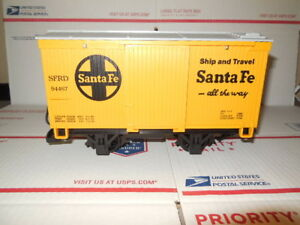 LGB BOX CAR TRAIN CAR SANTA FE YELLOW