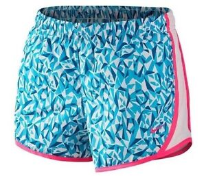 $28 Nike Tempo Printed Athletic Running Dri-fit Shorts 728094 Size XL Big Girls