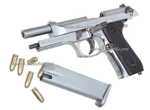 Blackcat Mini Model Gun - M92F (Shell Eject Silver) For Display Only