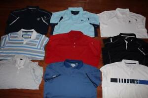 LOT OF 9 NIKE UNDER ARMOUR ADULT MENS GOLF POLO SHIRTS CALLAWAY SIZE 2XL XXL 3XL
