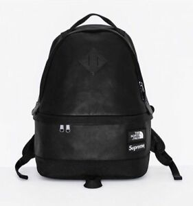 Supreme X The North Face Pack Backpack Black NTF Leather Day FW17