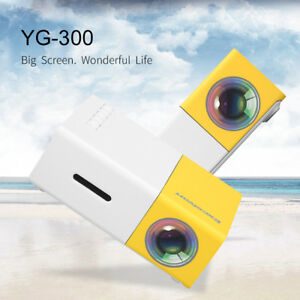 MINI PICO LED+LCD Projector YG300 HD 1080P HDMI USB Home Cinema For DVD TV XBOX
