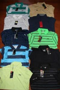 HUGE LOT UNDER ARMOUR HEATGEAR & NIKE DRI-FIT MENS GOLF POLO SHIRTS $550 S NWT