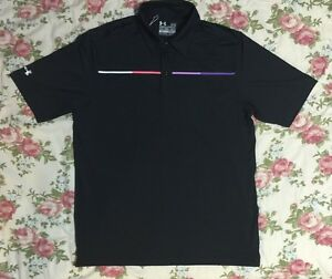 UNDER ARMOUR COLDBLACK HeatGear loose Golf Polo Shirt size MD