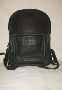 James Campbell Men's Leather Backpack Black  MSRP $399