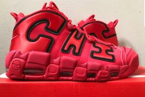 Nike Air More Uptempo QS Chicago Chi Sz 13 Red Black Bred Pippen AJ3138-600 DS