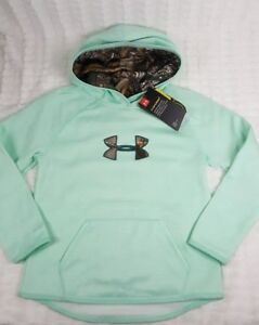 NEW UNDER ARMOUR YOUTH GIRL STORM GREEN REALTREE CAMO SWEATSHIRT HOODIE SZ YSM S