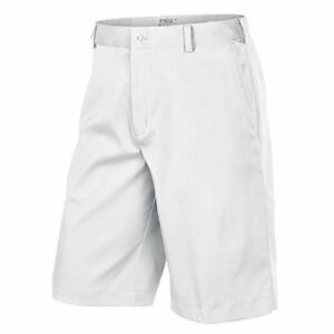 Nike Mens Flat Front Tech Golf Shorts ( White)
