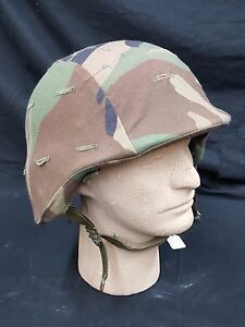 Current Issue Military Kevlar Helmet with Camo Cover