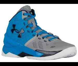 Curry 2 Under Armour Mens Shoes Electric Blue Midnight Navy Grey Stephen NEW