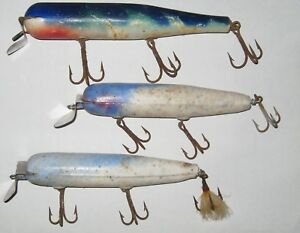 3 Large Fishing Lures Atom and others