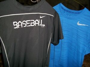 Lot of 2 NIKE DRI-Fit shirts Size Small and Youth XL