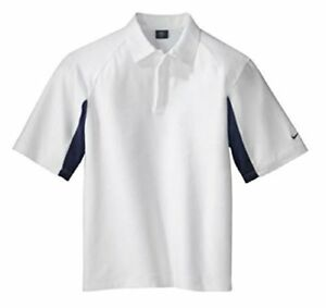 Nike Golf Dri-fit UV Polo Men's Sport Shirt (X-Small WhiteNavy)