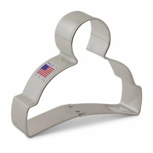 Winter Hat Cookie Cutter, Ann Clark, Tin Plated Steel, 3.75 Inches