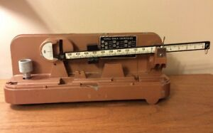 """Vintage Lyman Ohaus """"M5"""" Reloading Scale~Missing Parts"""