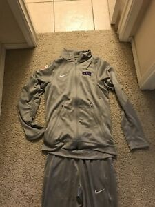 TCU Team Issued Nike Fit DRY Warm Up Suit Pants Jacket  - Small Alamo Bowl