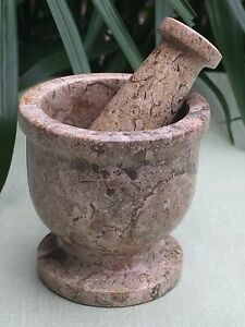 Mortar And Pestle Coral Fossil Spice Herb Pepper Grinder Coral Mortar
