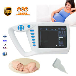 7Inch LCD Handheld Digital Ultrasound Scanner Medical Machine+Linear Probe FDA
