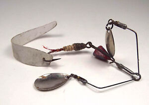 Primitive Metal Fishing Lure Antique Double Blade Spinner No Maker Marks