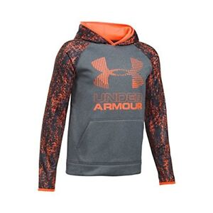 Under Armour Boys SG AF Big Logo Hoodie X-Small AnthraciteMagma Orange